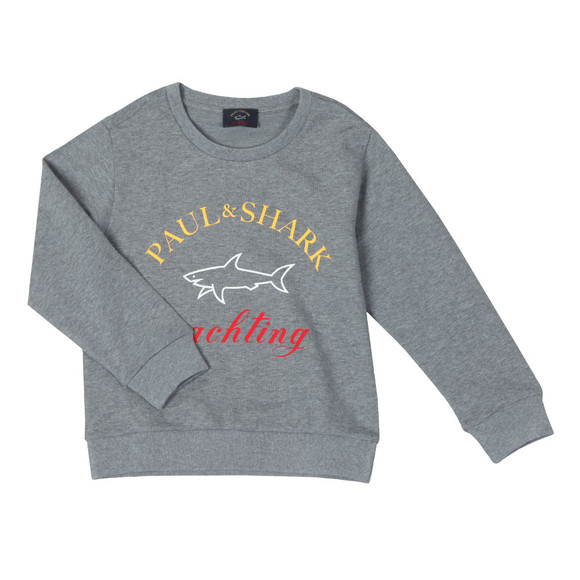 Paul & Shark Cadets Boys Grey Large Logo Sweatshirt