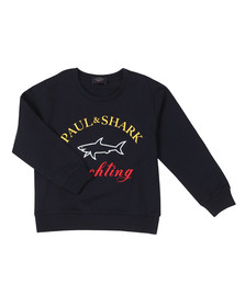 Paul & Shark Cadets Boys Blue Large Logo Sweatshirt