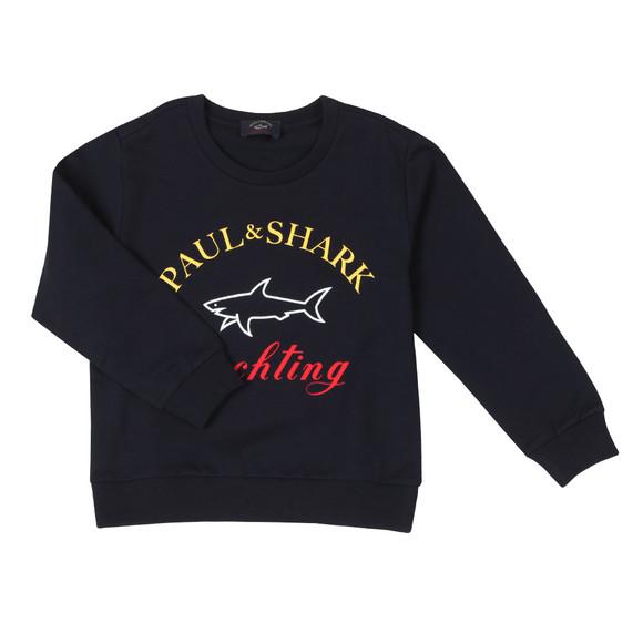 Paul & Shark Cadets Boys Blue Large Logo Sweatshirt main image