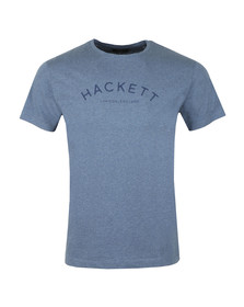 Hackett Mens Blue Classic Logo Tee