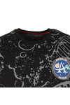 Alpha Industries Mens Black Moon Landing T Shirt