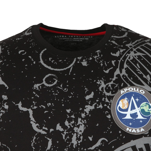 Alpha Industries Mens Black Moon Landing T Shirt main image