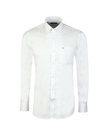 Paul & Shark Mens White Shark Logo Oxford Shirt