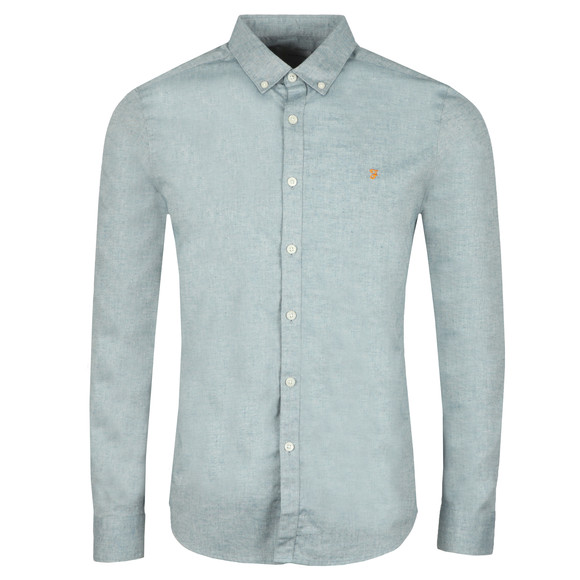 Farah Mens Blue Steen L/S Shirt