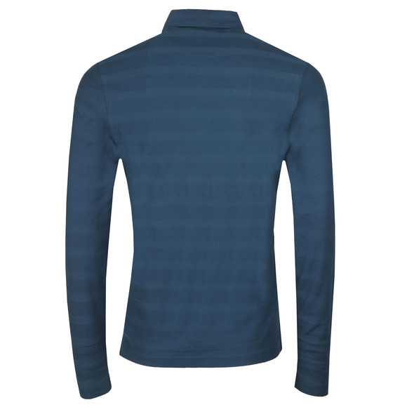 Farah Mens Blue L/S Darwen Polo main image