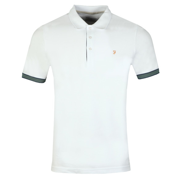 Farah Mens White Wade Pique Polo main image