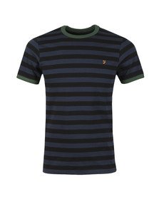 Farah Mens Black Belgrove Striped Tee
