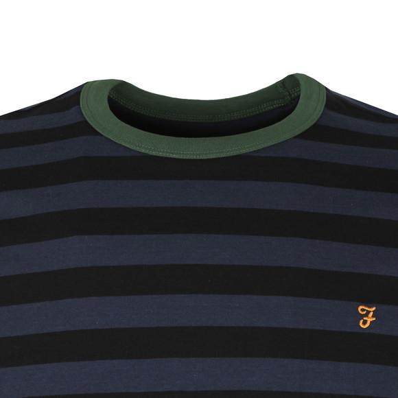 Farah Mens Black Belgrove Striped Tee main image