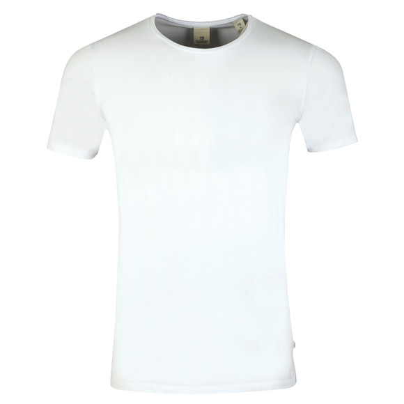 Scotch & Soda Mens White Scotch & Soda Crew Neck T-Shirt main image