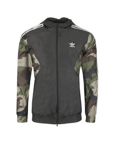 adidas Originals Mens Black Camo Windbreaker