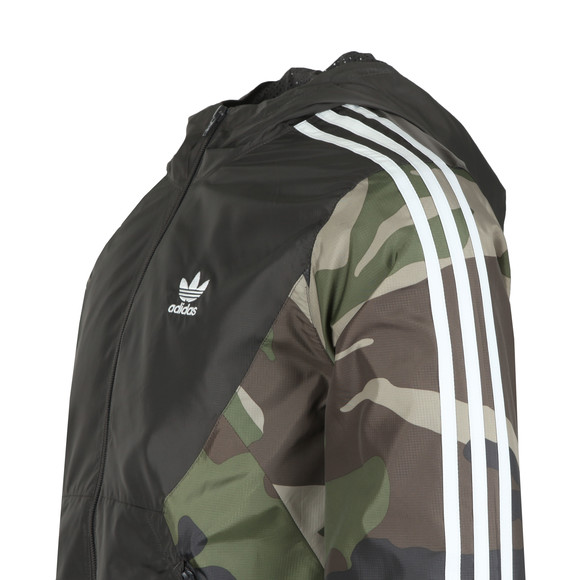adidas Originals Mens Black Camo Windbreaker main image