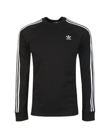 adidas Originals Mens Black 3 Stripes L/S Tee