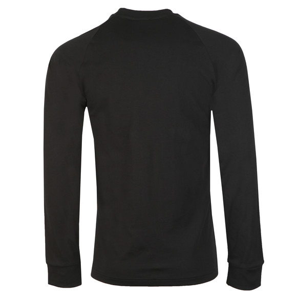 adidas Originals Mens Black 3 Stripes L/S Tee main image