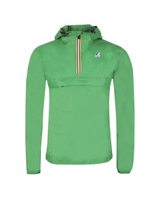K-Way Mens Green Le Vrai 3.0 Leon 1/2 Zip Jacket