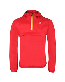 K-Way Mens Red Le Vrai 3.0 Leon 1/2 Zip Jacket