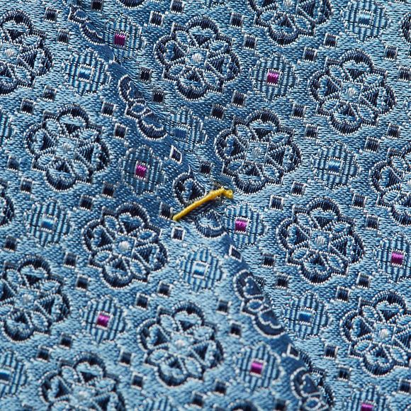 Eton Mens Blue Flower Tie main image