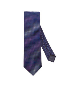 Eton Mens Blue Pin Dot Tie