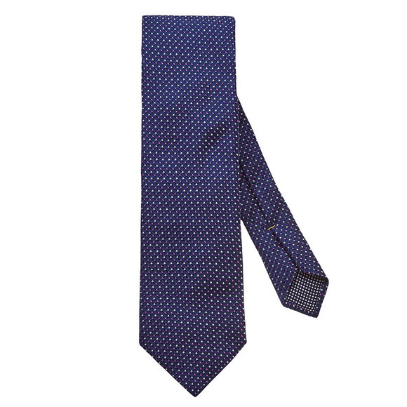 Eton Mens Blue Pin Dot Tie main image