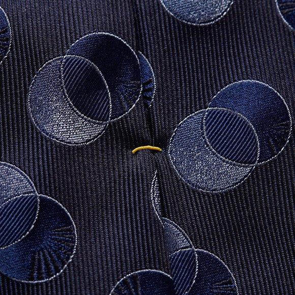 Eton Mens Blue Large Circle Tie