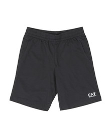 EA7 Emporio Armani Mens Blue Small Rubber Logo Jersey Short