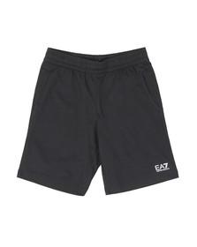 EA7 Emporio Armani Mens Blue Small Rubber Logo Jersey Short
