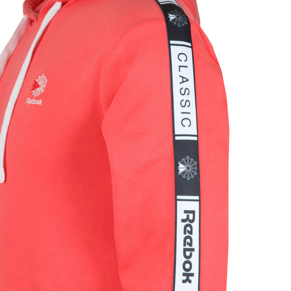 Reebok Mens Pink Taped Hoodie main image