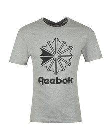 Reebok Mens Grey Big Logo Tee