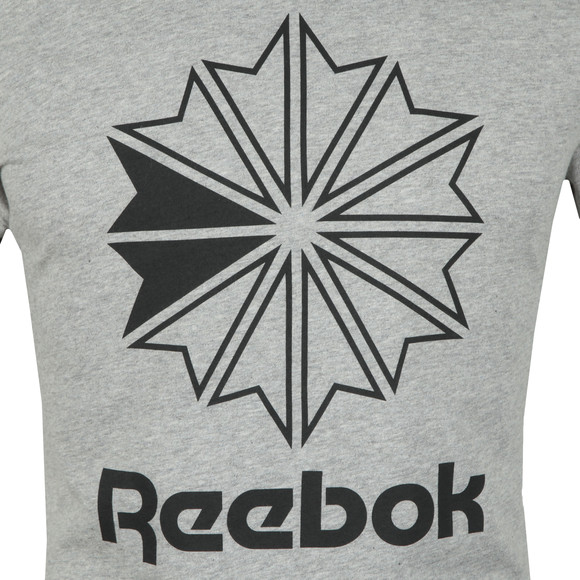 Reebok Mens Grey Big Logo Tee main image