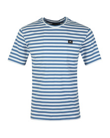 J.Lindeberg Mens Blue Charles Plain Stripe T Shirt