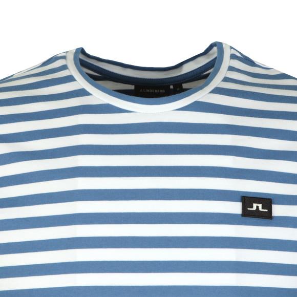 J.Lindeberg Mens Blue Charles Plain Stripe T Shirt main image