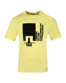 J.Lindeberg Mens Yellow Dale Distinct Cotton T Shirt