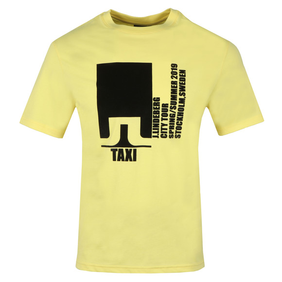 J.Lindeberg Mens Yellow Dale Distinct Cotton T Shirt main image