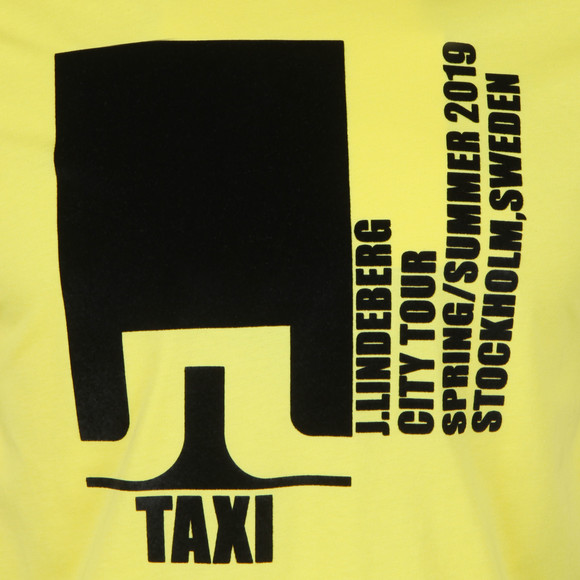 J.Lindeberg Mens Yellow Dale Distinct Cotton T Shirt