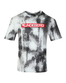 J.Lindeberg Mens Green Dale Distinct Cotton T Shirt