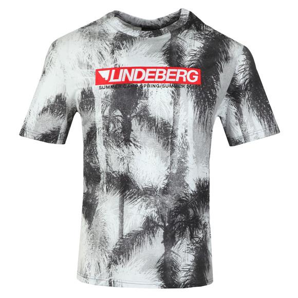 J.Lindeberg Mens Green Dale Distinct Cotton T Shirt main image