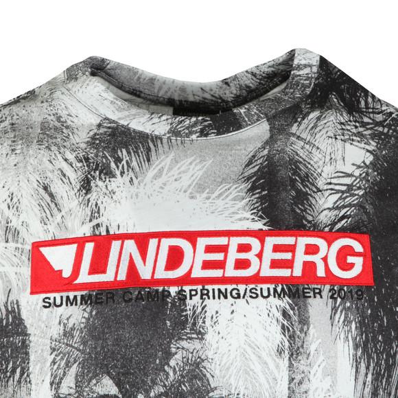 J.Lindeberg Mens Grey Dale Distinct Cotton T Shirt