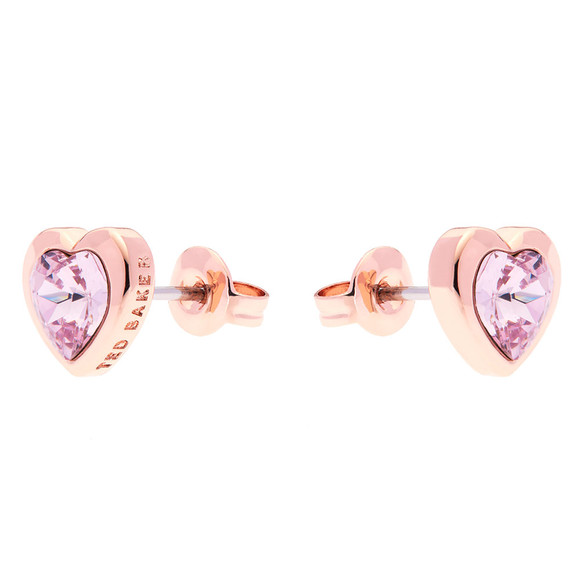 Ted Baker Womens Pink Han Crystal Heart Earring main image