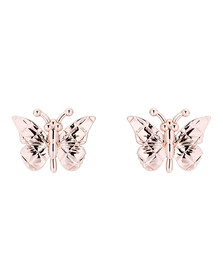 Ted Baker Womens Pink Rose Gold Bethna Butterfly Earring
