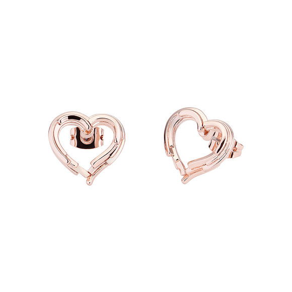 Ted Baker Womens Pink Lornaa Layered Heart Earring main image