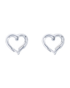 Ted Baker Womens Silver Lornaa Layered Heart Earring