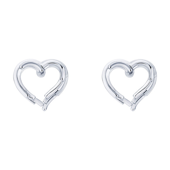 Ted Baker Womens Silver Lornaa Layered Heart Earring main image