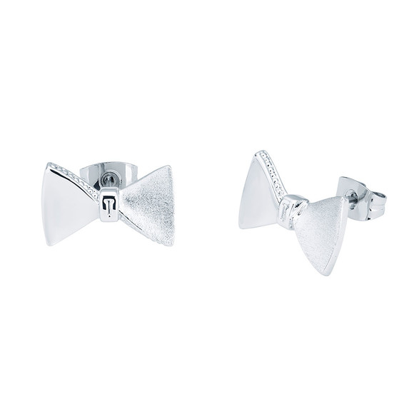 Ted Baker Womens Silver Tayal Tux Bow Earring main image