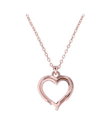 Ted Baker Womens Pink Laya Layered Heart Pendant