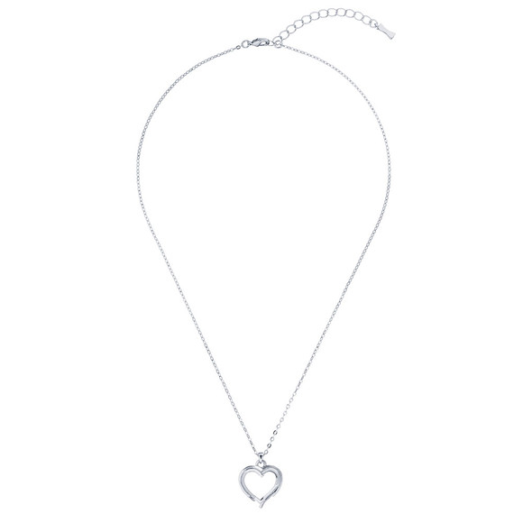 Ted Baker Womens Silver Laya Layered Heart Pendant main image
