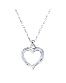 Ted Baker Womens Silver Laya Layered Heart Pendant