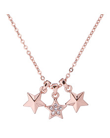 Ted Baker Womens Pink Rose Gold Shami Shooting Star Pendant