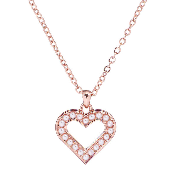 Ted Baker Womens Pink Evaniar Enchanted Heart Pendant main image