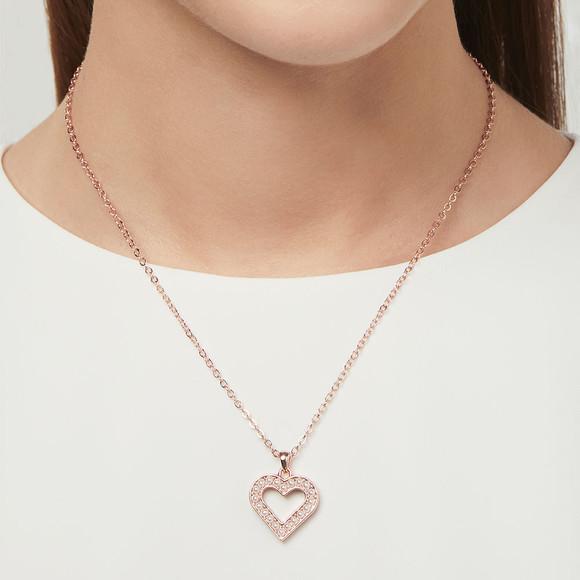 Ted Baker Womens Pink Evaniar Enchanted Heart Pendant main image