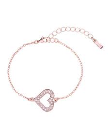 Ted Baker Womens Pink Elfrida Enchanted Heart Bracelet