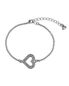 Ted Baker Womens Silver Elfrida Enchanted Heart Bracelet